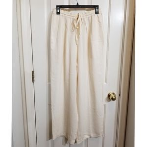 Vintage dkny white silk pants